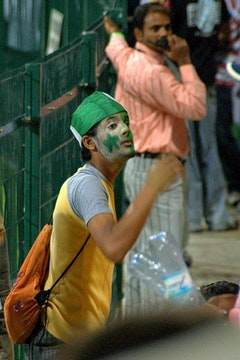 An Indian cricket fan. Photos by Hash P. via flickr (daarkfire).