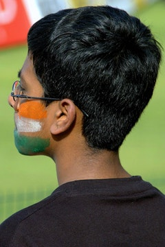 A Pakistani cricket fan. Photos by Hash P. via flickr (daarkfire).