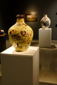 "Grayson Perry, ""The Charms of Lincolnshire"" (July 7–August 12 2006). Installation View: Victoria Miro Gallery, 2006."