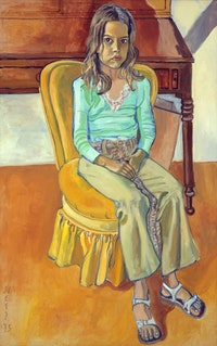 "Alice Neel (1900 - 1984), ""Olivia 1975"" Oil on canvas, 54 x 34 inches. Courtesy Cheim & Read Gallery"