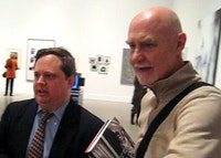 "The Douglases , Eklund left, and Crimp right, at the press preview of ""The Pictures Generation"" at the Met."
