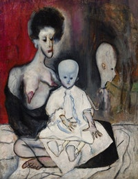 "In the early days, there was a ""no censorship"" policy at the exhibit, but when works were deemed offensive, as Alice Neel's ""Degenerate Madonna"" was in the inaugural year, the canvases were proudly turned to the wall, as badges of avant-garde honor. Alice Neel, ""Degenerate Madonna,"" (1930), Oil on canvas. 31 x 24 inches. © The Estate of Alice Neel, courtesy David Zwirner, New York."