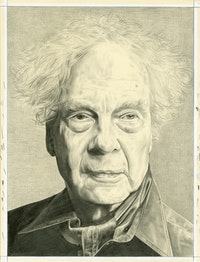 Portrait of Merce Cunningham. Pencil on paper by Phong Bui.