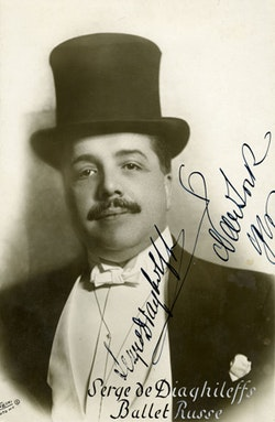 Serge Diaghilev, 1916. Photos courtesy of the Jerome Robbins Dance Division, New York Public Library for the Performing Arts.