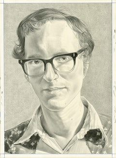 Portrait of Michael Daves. Pencil on paper by Phong Bui.