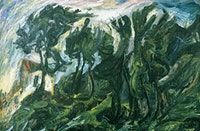 "Chaim Soutine (1893–1943), ""Landscape At Céret"" (circa 1920–21). Oil on canvas 28"