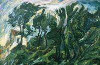 """Chaim Soutine (1893–1943), """"Landscape At Céret"""" (circa 1920–21). Oil on canvas 28"""