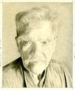 Portrait of Robert Kelly. Pencil on paper by Phong Bui.