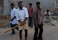 Recreational cricket players in Egmore, South India. Photo couresty of A. Sorense.