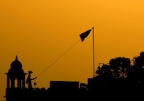 Wagah border at sunset. Photo courtesy of Zeepack, through flickr.com.