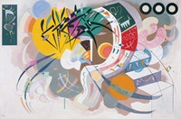 Vasily Kandinsky, Dominant Curve (Courbe dominante), April 1936. Oil on canvas, 50 7/8 x 76 1/2 inches (129.4 x 194.2 cm). Solomon R. Guggenheim Museum, New York. Solomon R. Guggenheim Founding Collection. 45.989.