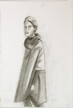 Oona 2, 2007. Charcoal on paper. 22 3/8 x 15 inches (56.8 x 38.1 cm). AK07-08. Credit: Courtesy of Peter Blum Gallery, New York.