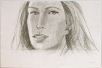 Jessica, 2007. Charcoal on paper. 15 x 22 3/8 inches (38.1 x 56.8 cm). AK07-06 Credit: Courtesy of Peter Blum Gallery, New York.