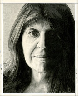 Portrait of Annie Freud. Pencil on paper by Phong Bui.