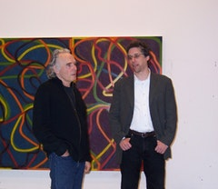 Brice Marden with Jeffrey Weiss. Photo by Phong Bui.