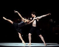 Stella Abrera and Cory Stearns in <i>Everything Doesn't Happen at Once</i>. Photo: Rosalie O'Connor