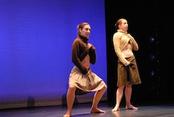 Monica Bill Barnes and Anna Bass in <i>Another Parade</i>. Photo by Shahpar Nili.