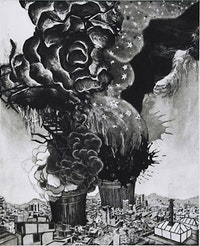 "Nicola Lopez, ""Silver Lining"" (2006). Intaglio on paper, image size 24"
