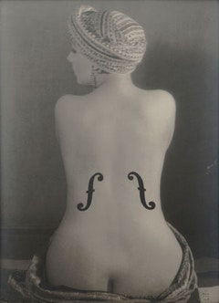 Le violon d'Ingres is a Vintage gelatin silver print from 1924.  Courtesy of the Jewish Museum.