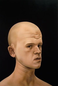 "Matthew Miller, ""Untitled (self-portrait)"" (2009). Oil on panel, 24 × 16 inches. Courtesy of the artist."
