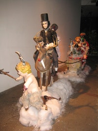 "Peter Caine, ""Rudolph and Friends"" (2006). Installation at Jack the Pelican Presents. Courtesy of the gallery."