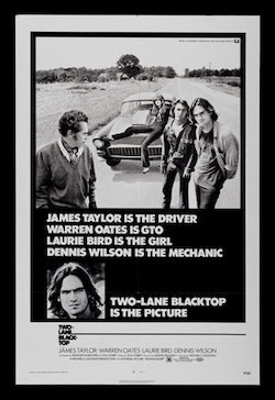 The 1971 poster for <i>Two-Lane Blacktop.</i>