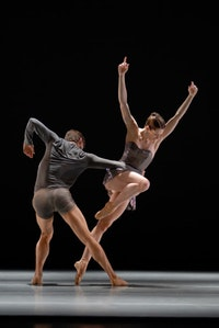 Dust and Light dancers Laurel Keen and Brett Conway.  Credit:  Photography by Marty Shol.