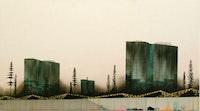 """Eric Benson, """"Liars (Talking Skulls)"""" (2006). Acrylic on canvas. 80"""