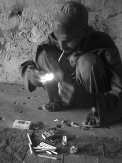 An addict in Kabul. Photo by Anuj Chopra, Courtesy ISN Security Watch, flickr.com