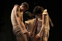 Dancers in Laura Peterson's <i>Wooden</i>. Photo by Steven Schreiber.