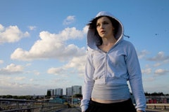Not so innocent: Katie Jarvis as Mia in <i>Fish Tank</i>. Photo credit: Holly Horner. © IFC Films.
