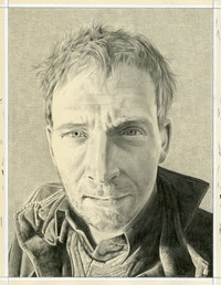 Portrait of Jakob Fenger. Pencil on paper by Phong Bui.
