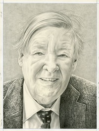 Portrait of Willibald Sauerländer. Pencil on paper by Phong Bui.