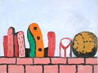 """Philip Guston, """"Untitled"""" (1970). Oil on panel. 12˝× 16˝. Courtesy McKee Gallery."""