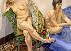 TWO MODELS WITH AIR MATTRESS AND MODEL SAILBOAT, 2006 Oil on canvas 60 x 84 inches 152.4 x 213.36 cm.   	© Philip Pearlstein, Courtesy Betty Cuningham Gallery, New York.