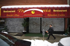 Neighborhood restaurants are just one noticeable aspect of Sunnyside's Armenian and Turkish population. Dracula's Place, serving traditional Romanian cuisine  Photos by Miller Oberlin.