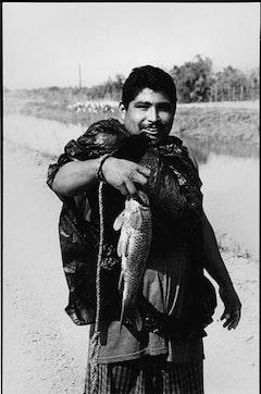 A happy fisherman.
