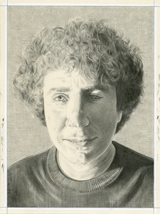 Portrait of Jill Ciment. Pencil on paper by Phong Bui.