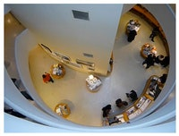 Still from Guggenheim Gift Shop Seen From Above by Bog Skeleton: http://vimeo.com/8139049