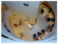 Still from Guggenheim Gift Shop Seen From Above by Bog Skeleton: http://vimeo.com/8139049