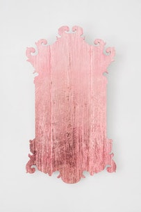 Virgil Marti, <i>A Pot of Paint</i>, 2010. Wood, foam, fabric and trim. 29.5 × 72 × 72 inches (74.9 × 182.9 × 182.9 cm). Courtesy of the artist and Elizabeth Dee Gallery.
