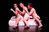 Julian Barnett, Larry Keigwin and Alexander Gish in <i>Mattress Suite.</i> Photo by David Bazemore.