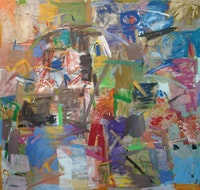 Robert Natkin, <i>Earth Quake</i>, 1957, oil on canvas, 81 x 86 1/2 inches.