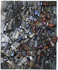 """Linda Cross, """"Untitled"""" (1985). Mixed media assemblage on canvas. 80 x 65 x 4 inches. 203.2 x 165.1 x 10.2 c"""