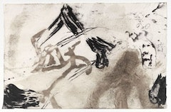 """PASSARE DA BERNANDO XLI"" (2009). Ink and charcoal on paper. 11˝× 17˝. CR# JE. 19512. Courtesy of Cheim and Read."