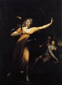 "Johann Heinrich Füssli, ""The Sleepwalking Lady Macbeth"" (1781-1784). Oil on Canvas, 221 × 160 cm."