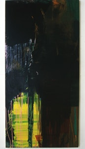 David Reed, <i>#1</i>, 1972, Oil on canvas, 76 x 38 inches