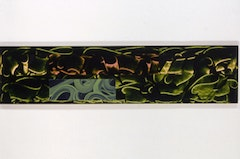 David Reed, <i>#292</i>, 1989-1991, Oil and alkyd on linen, 28 x 116 inches