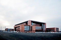 5. CHANGCHUN, 2005: Changchun's municipal hall is exemplary of China's new tendency to expand city administrative headquarters as monolithic structures in more spacious city outskirts.