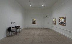 Installation view of <i>Not a Solitary Sign or Inscription to Even Suggest an Ending</i> at Overduin and Kite.